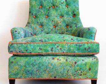 Custom Textile Design & Upholstered Accent Chair