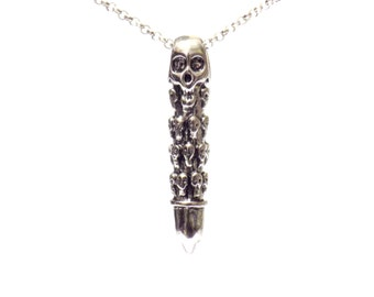 skull necklace, skull pendant, skull jewelry, mens necklaces, stainless steel necklaces