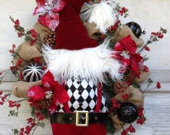 Christmas Wreath, Santa Wreath