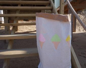 ICE CREAM DELIGHT paper storage bag
