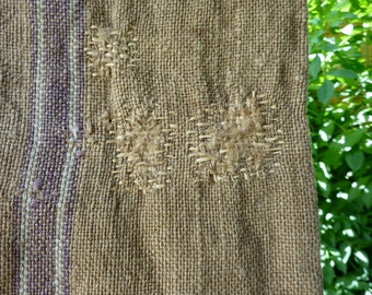A small vintage french grain sack, repaired,french boro, photo prop