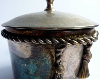 a vintage french silver plated pot