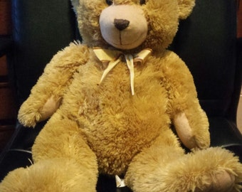 Vintage Adorable Soft Teddy LIGHT BROWN Bear 24 Inches by Animal Alley