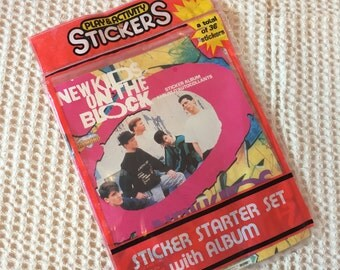 Deadstock 1990 New Kids on the Block Sticker Set and Album