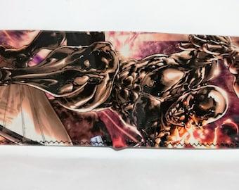 silver sufer 3 - recycled comic book wallet, slim wallet, hanmade wallet, card holder, thin wallet, vinyl wallet, men's wallet