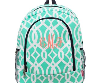 Backpack for kids Girls Personalized Backpack Vine Print Backpack Great for school backpack personalized monogrammed backpack