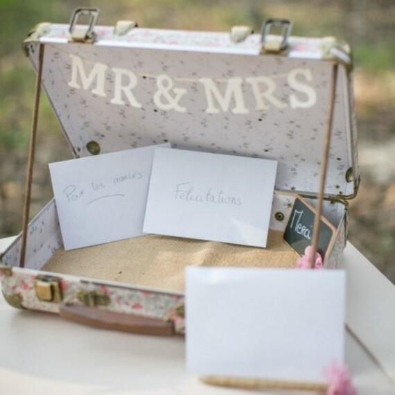 valise urne de mariage liberty rose wedding suitcase card. Black Bedroom Furniture Sets. Home Design Ideas