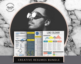 Infographic Creative Resume Bundle 3 Templates for Microsoft Word