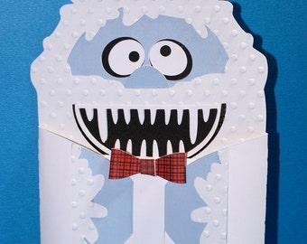 Yeti Christmas Gift Card Holders-Snowman-Gift Card Holder-Christmas Gift Card Holder-Gift Card Holder