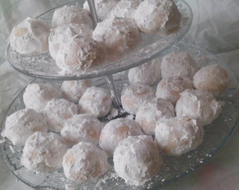 Russian Tea Cake Cookies, Mexican Wedding Cake Cookies, Snow Ball Cookies,  Italian Butter