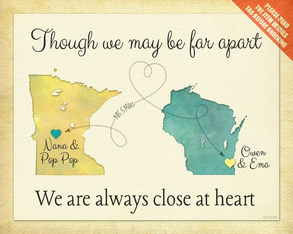 Valentines Day Quotes For Grandma: Birthday Gift For Grandma Valentines Gift For By KeepsakeMaps