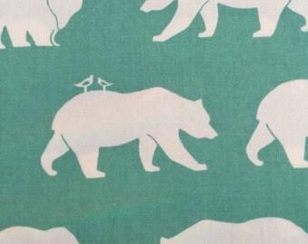 Bear Hike Pool by Jay-Cyn for Birch Fabrics Organic Cotton