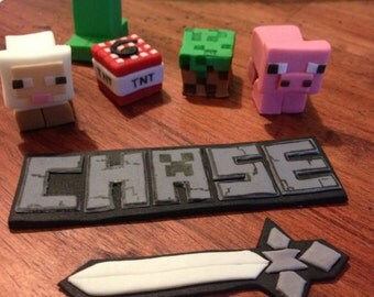 Minecraft Cake & Cupcake Toppers Set - Edible