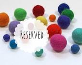 RESERVED for Christina - 2 cm Felt Balls, 140 pieces