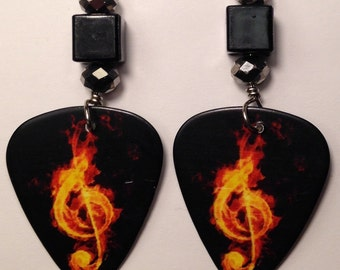 1 Pair- Guitar Pick Earrings