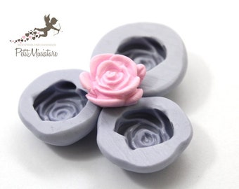 Silicone mold FLOWER 2 cm flexible  fimo flower pink dollhouse miniatures charm kawaii polymer clay jewelry soap plaster resin ST278