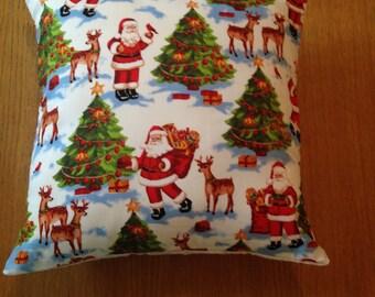 Santa cushion, Christmas pillow, Christmas cushion, father christmas cushion, Christmas in July
