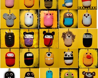 AMIGURIMI PETS-Keychain pill box
