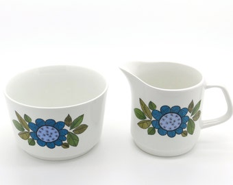 1960's Jug and bowl in Topic Design J & G Meakin Studio Blue Flower