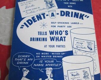 Ident-A-Drink Self Sticking Drink Labels