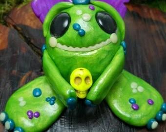 OOAK polymer clay goblin
