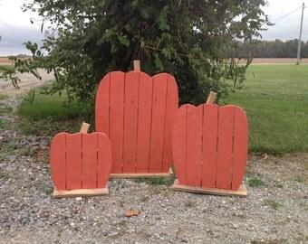 3pc Outdoor Fall Pumpkin Decor