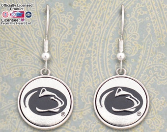 Penn State Nittany Lions Medallion Earrings