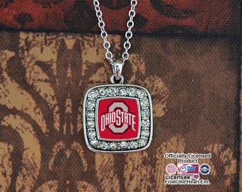 Ohio State Buckeyes Square Necklace - OHSU47275