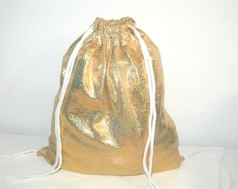 Blogger gym bags backpack gym bag gold hologram