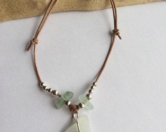 Beautiful, Hand Made Scottish Sea Glass  bracelet B 28.9.15.7