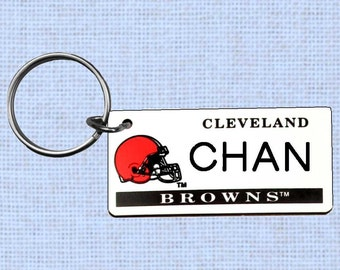 Personalized Cleveland Browns keychain - key ring