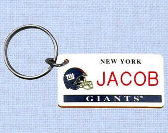 Personalized New York Giants keychain - key ring (NY)
