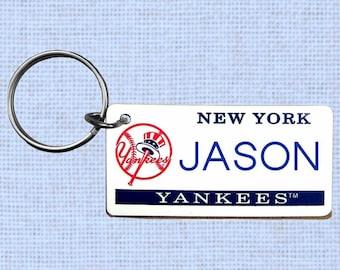 Personalized New York Yankees keychain - key ring