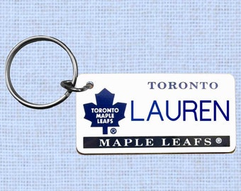 Personalized Toronto Maple Leafs keychain - key ring