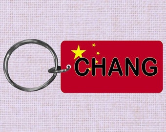 Personalized China Country flag keychain