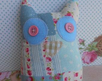 Owl Pincushion Patchwork Fabric