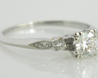 SOLD**Reserved on Layaway**Not Available** Beautiful Vintage Platinum Diamond Engagement Ring