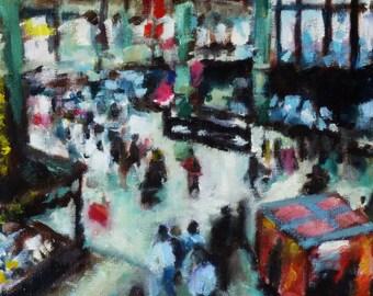 Gare du Nord - Paris (Original Oil Painting)