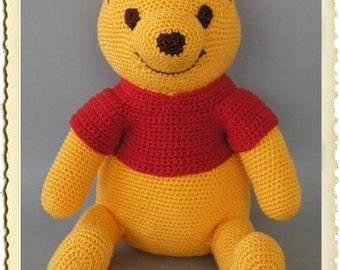 Pooh, 35 cm (standing) hand crochet pooh bear