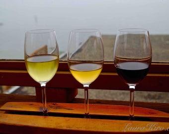 Winery Photography Wine Flight Nautical Kitchen photo Home Decor Wall Art Wine Trio Wine Glass