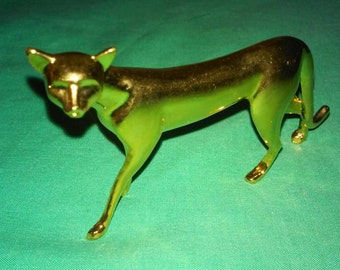 Art Deco Curio Cabinet Cat by Franklin Mint