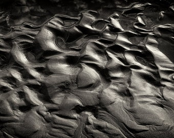 Beach Photography, Sand, Patterns, Texgture, Fine Art Black & White Photography, Ruby Beach, Pacific Northwest, Nature, Wall Art, Home Decor