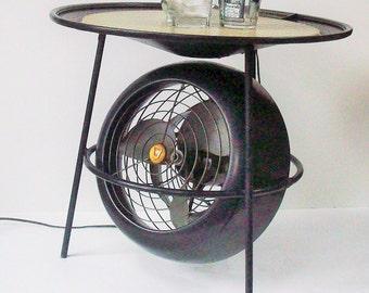 Vintage Vornado Fan with Table / 1955-58 / Retro Rarity / Still Works / Swivels as Designed