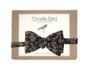 "Flowered Charlie Bird bow tie ""yerterday night I went somewhere"""