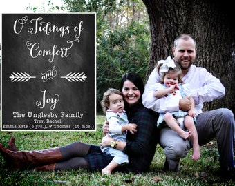 O Tidings of Comfort and Joy Christmas Cards-FREE SHIPPING or DIY printable