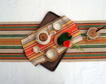 Swedish Green and Orange Table-runner/Wall-Hanging