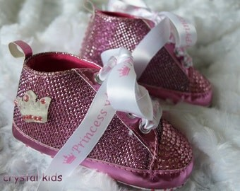 Gorgeous Pink Sparkly Baby Girls Shoes Princess Boots Pram Shoes 12-15 Months BRAND NEW in box