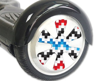 Skin Decal Wrap for Hoverboard Balance Board Scooter Wheels Aztec Blocks