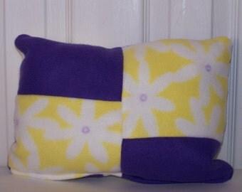 Yellow/Purple Flower Accent Pillow
