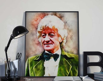 03 Doctor Who - Jon Pertwee - The Third Doctor - INSTANT DIGITAL DOWNLOAD Print Poster 8x10 inches